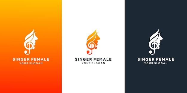 Création de modèle de logo de chorale de chanteur