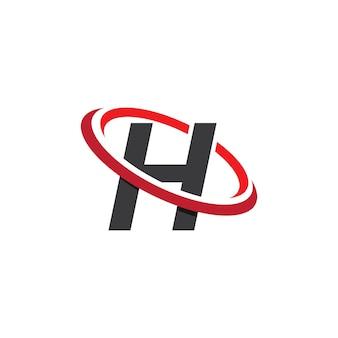 Création de modèle de logo lettre h
