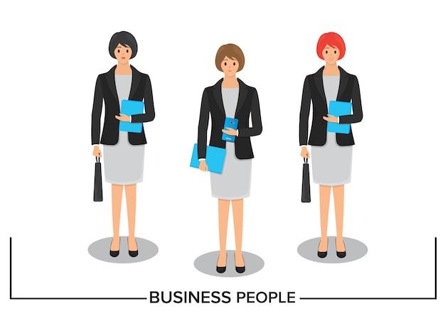 Création de personnage de femme d'affaires