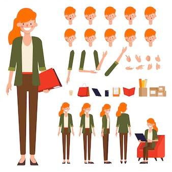 Création de personnages animés.