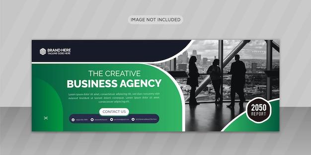 Création de photo de couverture facebook d'agence de marketing créatif ou conception de bannière web