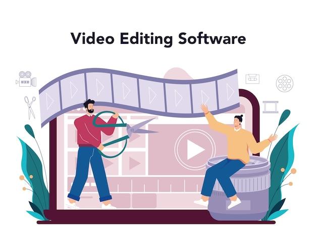 Création d'un service en ligne de concepteur de mouvement ou de vidéo ou d'un artiste de plate-forme
