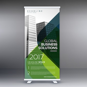 Création standee rol up display banner vector template design