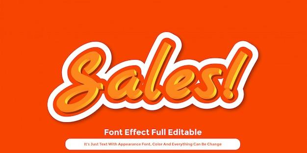 Création de style graphique de texte 3d orange