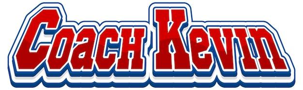 Création de texte pour le logo de l'entraîneur kevin
