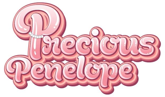 Création de texte pour le logo précieux penelope