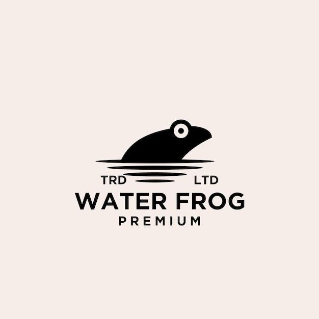 Création de vecteur de logo de grenouille d'eau premium