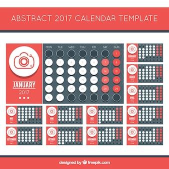 Creative 2017 calendrier avec le sujet photographique