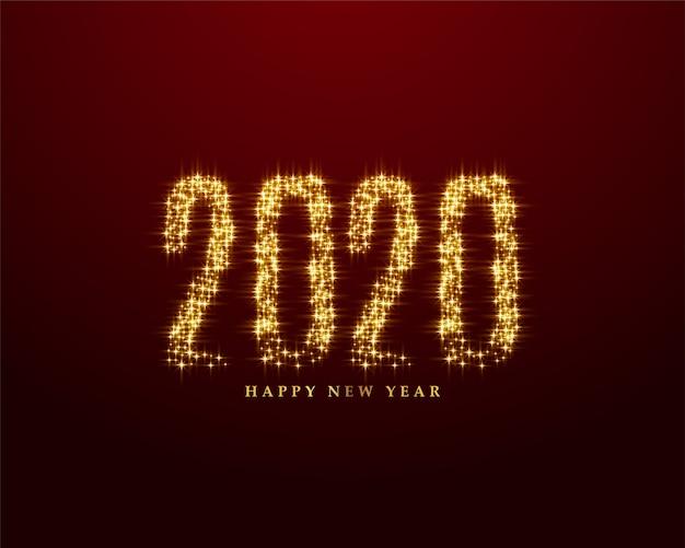 Creative 2020 écrit en arrière-plan de style sparkles