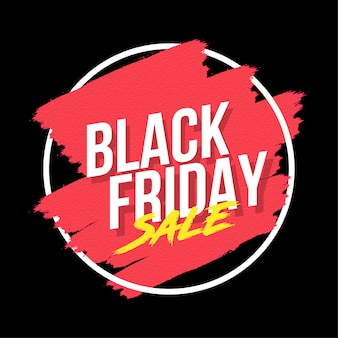 Creative black friday bannière avec splash