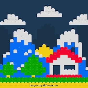 Creative blocks background