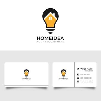 Creative bulb city logo avec conception de carte de visite