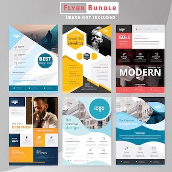 Creative corporate flyer bundle pour les entreprises