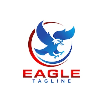 Creative eagle logo stock vecteur