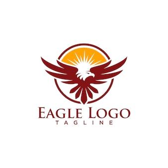 Creative eagle logo stock vecteur