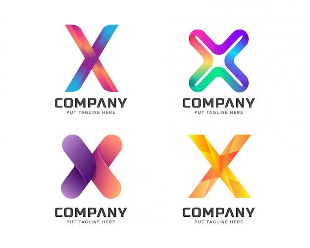 Creative letter x logo pour entreprise