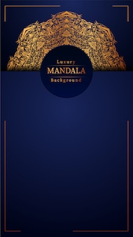 Creative luxury mandala blue background