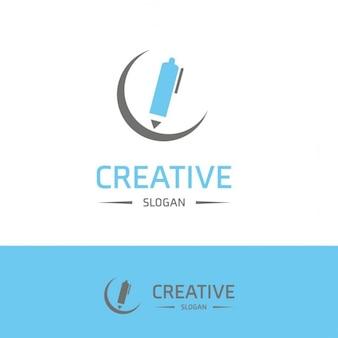 Creative pen logo