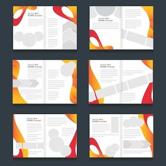 Creative rio paralympiques jeux olympiques flyer template set