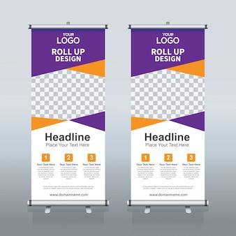 Creative roll up modèle de conception de bannière