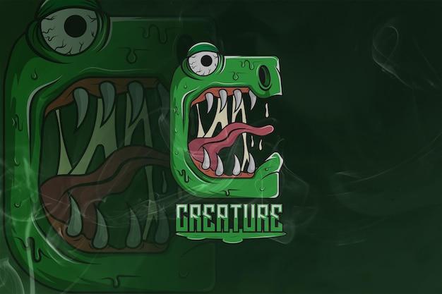 Créatures monogram esport logo premium