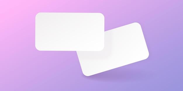 Crédit réaliste, visite, carte-cadeau avec une ombre pour votre conception