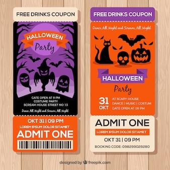 Creepy packof halloween billets