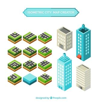 Créer une carte de la ville avec des éléments en vue isométrique