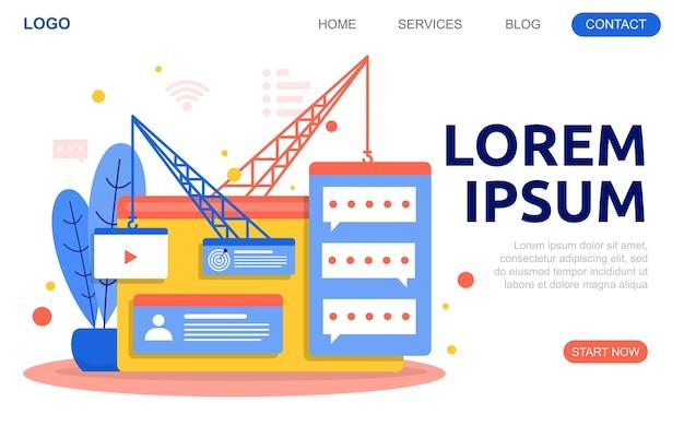 Créer une conception de site web illustration de développement de projet de page web