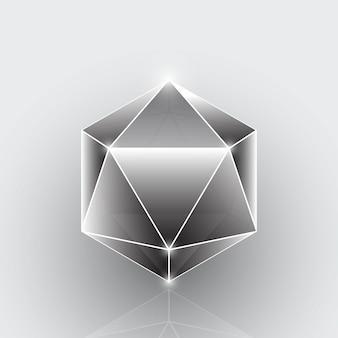 Créer un élément de pierre gemme géométrique de polygone