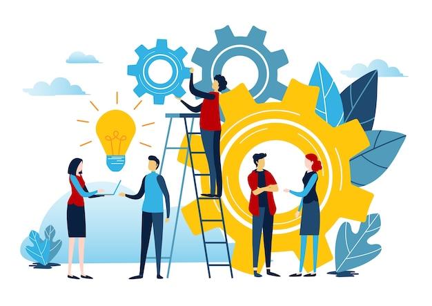 Créer une idée pour réussir.