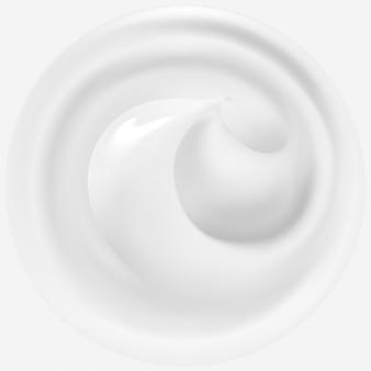 Crème blanche, illustration réaliste.