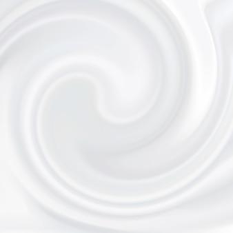 Crème blanche. produit cosmétique, texture liquide laiteuse, crème, mousse blanche molle.