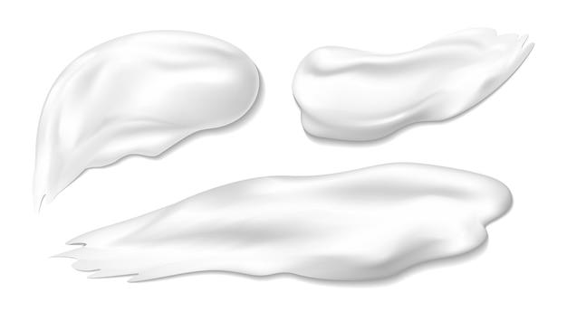 Crème cosmétique sur blanc