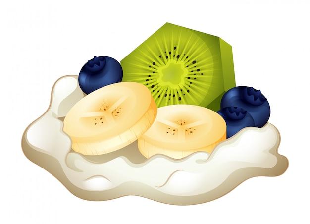 Crème fraîche et fruits
