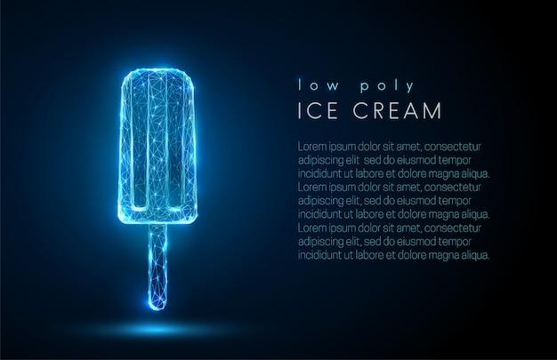Crème glacée abstraite low poly