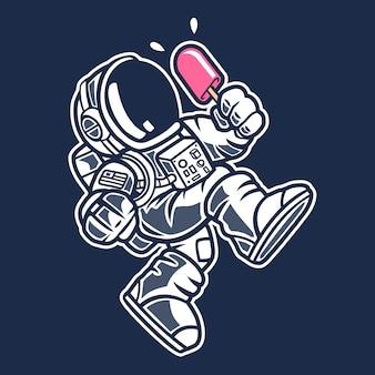 Crème glacée d'astronaute