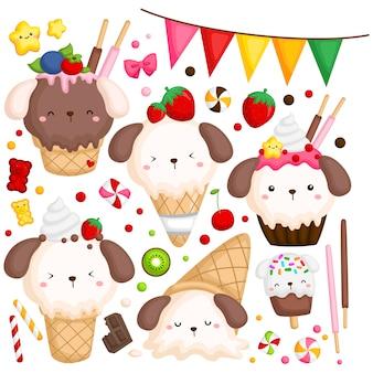 Crème glacée chien