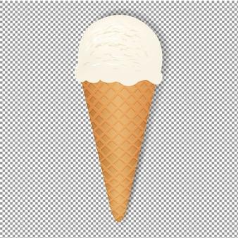 Crème glacée avec fond transparent, illustration, avec filet de dégradé