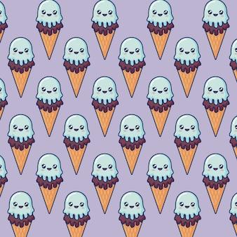 Crème glacée kawaii