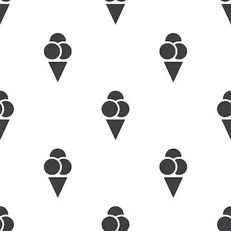 Crème glacée, modèle sans couture de vecteur, modifiable peut être utilisé pour les arrière-plans de pages web, les remplissages de motifs