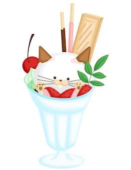 Crème glacée pour chat