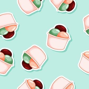 Crème glacée sans soudure cône de gaufres