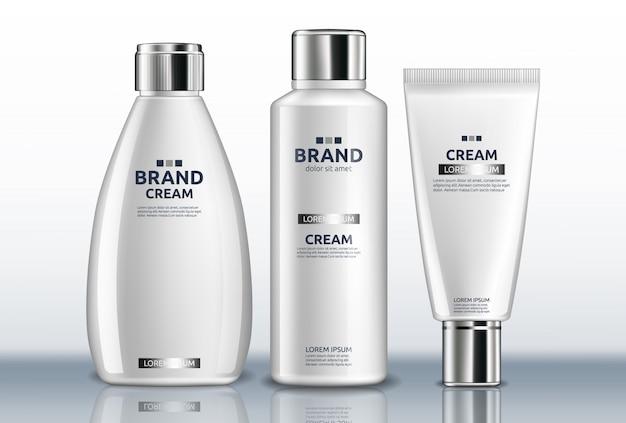 Crème pour les mains blanche et lotion pour le corps