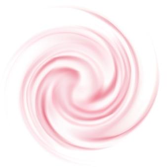 Crème de yogourt curl isolée