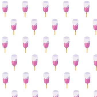 Crèmes glacées d'été en bâtonnets