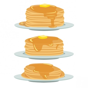 Crêpes au miel et au beurre