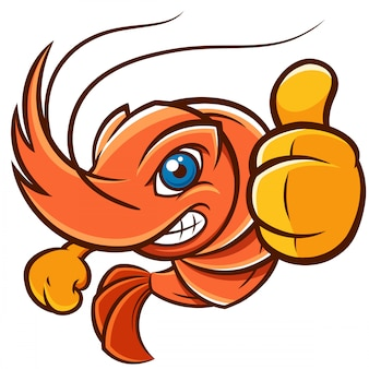 Crevettes de dessin animé