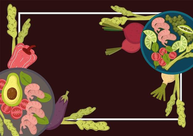 Crevettes et légumes