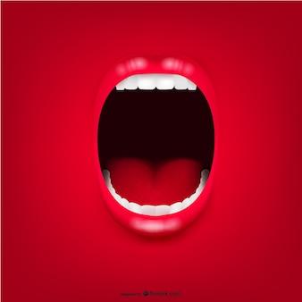 Crier bouche fond